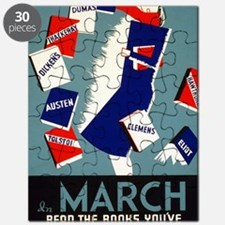 Vintage March is for Reading Puzzle