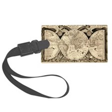 Vintage Old World Map  - 1630 Luggage Tag