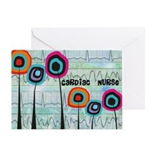 cardiac nurse blanket Greeting Card