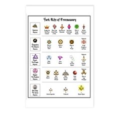 York Rite Emblems Postcards (Package of 8)