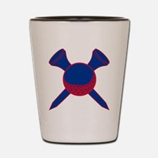 Blue and Red Golf Shot Glass