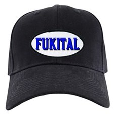 FUKITAL-BLUE LETTERS/WHITE TRIM Baseball Hat