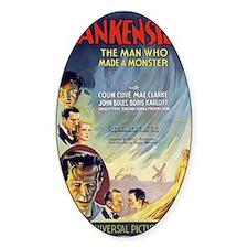 Vintage Frankenstein Horror Movie Decal