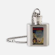 Vintage Frankenstein Horror Movie Flask Necklace
