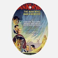 Vintage Frankenstein Horror Movie Oval Ornament