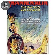 Vintage Frankenstein Horror Movie Puzzle