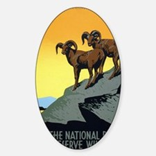 National Parks: Preserve Wild Life Decal
