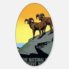 National Parks: Preserve Wild Life Sticker (Oval)