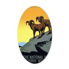 National Parks: Preserve Wil 35x21 Oval Wall Decal