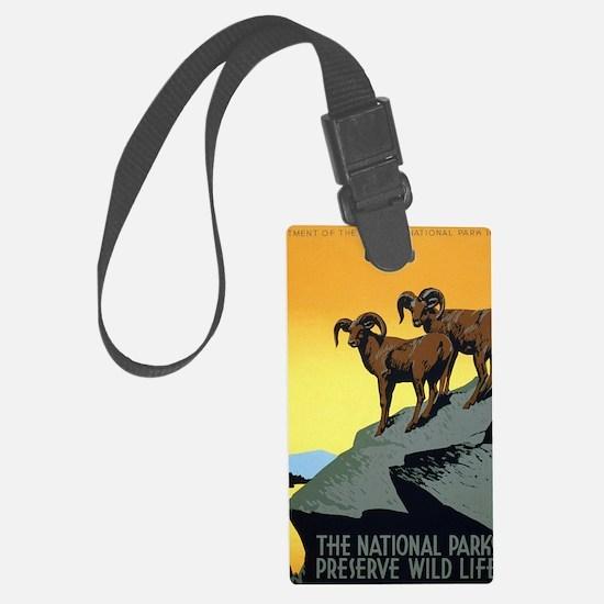 National Parks: Preserve Wild Li Large Luggage Tag