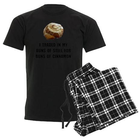Buns Of Cinnamon Men's Dark Pajamas