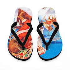 Santa Claus 60_10x14V Flip Flops