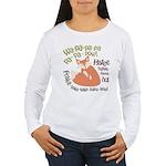 Wa Pow Hatee Ho Fox Women's Long Sleeve T-Shirt