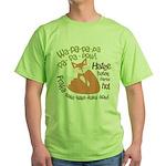 Wa Pow Hatee Ho Fox Green T-Shirt