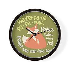 Wa Pow Hatee Ho Fox Wall Clock