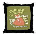 Wa Pow Hatee Ho Fox Throw Pillow