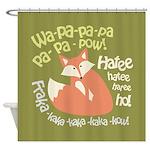 Wa Pow Hatee Ho Fox Shower Curtain