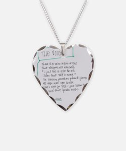 The Voice Necklace Heart Charm