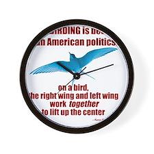 Birding vs. Politics Wall Clock