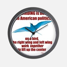 Birding vs. Politics Wall Clock