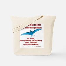 Birding vs. Politics Tote Bag