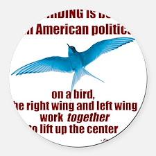 Birding vs. Politics Round Car Magnet