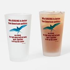 Birding vs. Politics Drinking Glass