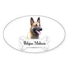 Malinois 2 Oval Decal