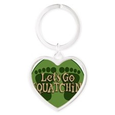 Lets go Heart Keychain