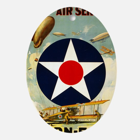 WWII Join the Air Service/Air Force Oval Ornament