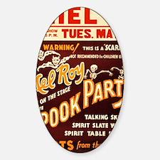 Vintage Halloween Party Sticker (Oval)