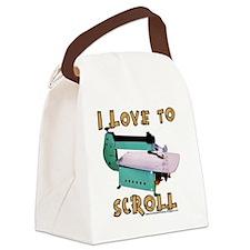 ilovetoscrollEX2 Canvas Lunch Bag