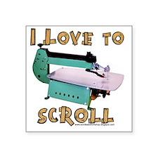 """ilovetoscrollEX2 Square Sticker 3"""" x 3"""""""