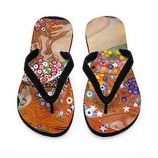 Gustav Klimt Water Serpents Flip Flops