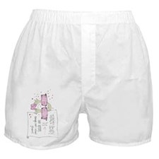 Rose Colored Boxer Shorts