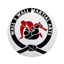 Wall 2 Wall Martial Arts Big Logo Round Ornament