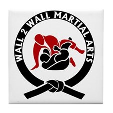 Wall 2 Wall Martial Arts Big Logo Tile Coaster