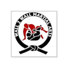 """Wall 2 Wall Martial Arts Bi Square Sticker 3"""" x 3"""""""