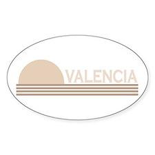 Valencia, Spain Oval Decal