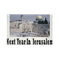 Next Year In Jerusalem Rectangle Magnet