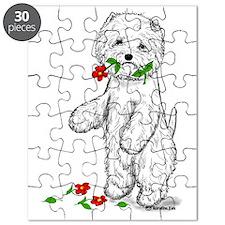Red Flower Westie II Puzzle
