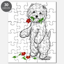 Red Flower Westie II Puzzle