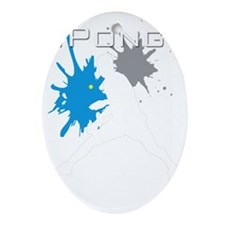 iPong White Oval Ornament