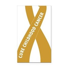 Gold Ribbon Large Rectangle Car Magnet