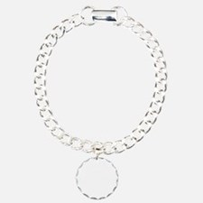Fierce Black Sissy Wht Charm Bracelet, One Charm