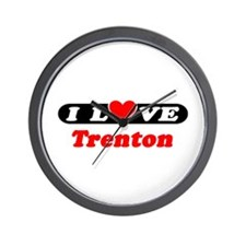 I Love Trenton Wall Clock