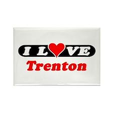 I Love Trenton Rectangle Magnet
