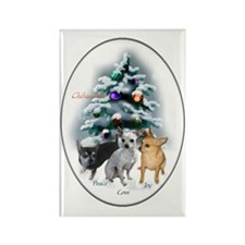 Chihuahua Christmas Rectangle Magnet