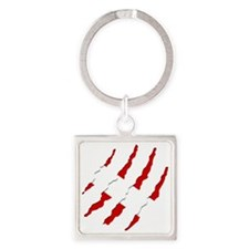 Dive Flag Scratches Square Keychain
