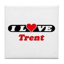 I Love Trent Tile Coaster